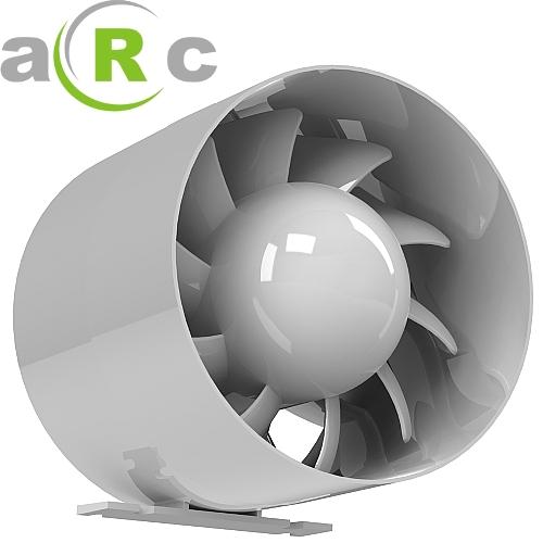 rohrventilator rohreinschub l fter abluft ventilator leise 100 120 150 arc ebay. Black Bedroom Furniture Sets. Home Design Ideas