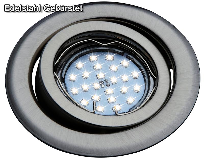 einbaustrahler gu4 mr11 schwenkbar downlight einbauleuchte spot led halogen oh19. Black Bedroom Furniture Sets. Home Design Ideas