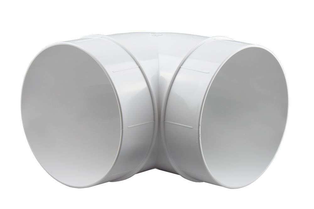 bogen 90 rundrohr l ftungsrohr abluft rohr 100 125 150 mm ebay. Black Bedroom Furniture Sets. Home Design Ideas