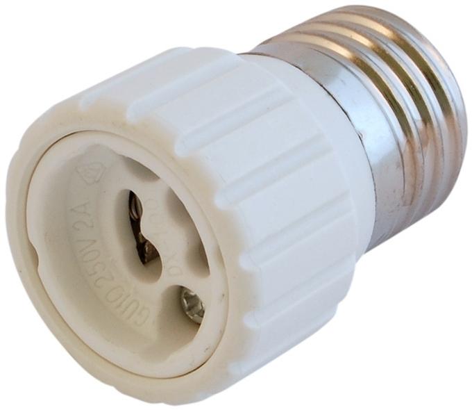 lampensockel bergang fassung e27 auf gu10 e14 auf gu10 led konverter adapter. Black Bedroom Furniture Sets. Home Design Ideas