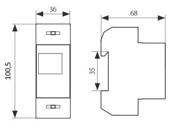 lcd drehstromz hler energie stromz hler strommessung hutschiene 1 und 3 phasen. Black Bedroom Furniture Sets. Home Design Ideas