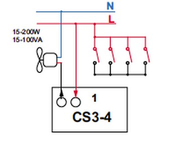 genug Zeitschalter Unterputz Nachlaufrelais ohne Nulleiter CS3 - 4 MC95