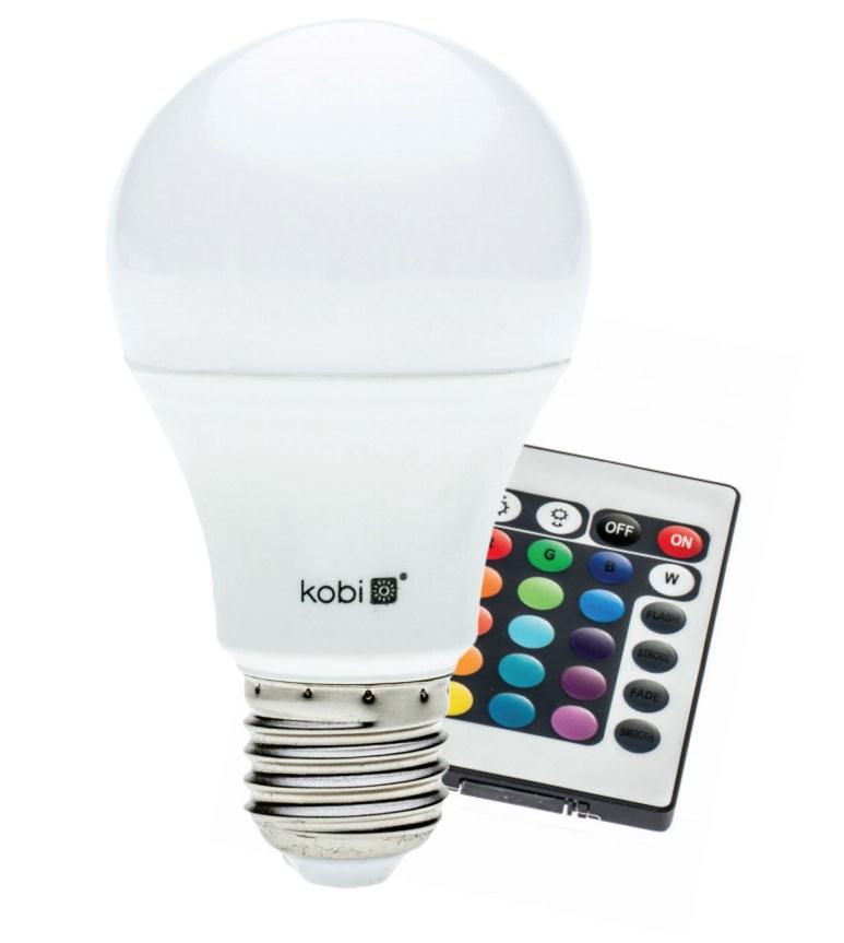 e27 rgb led leuchtmittel mit farbwechsel fernbedienung lampe birne kobi 7 5w ex ebay. Black Bedroom Furniture Sets. Home Design Ideas