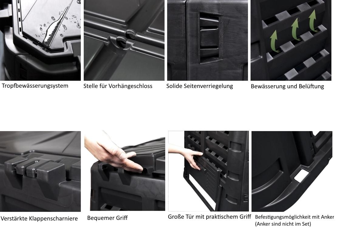 gartenkomposter kunststoff komposter thermokomposter. Black Bedroom Furniture Sets. Home Design Ideas